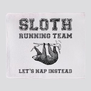 Sloth Running Team Throw Blanket
