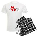 Baby Pin with Hearts Pajamas