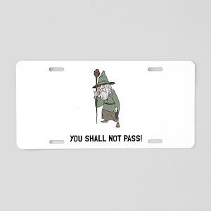 Wizard Shall Not Pass Aluminum License Plate