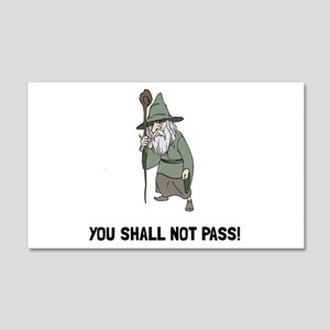 Wizard Shall Not Pass Wall Decal