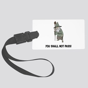 Wizard Shall Not Pass Luggage Tag