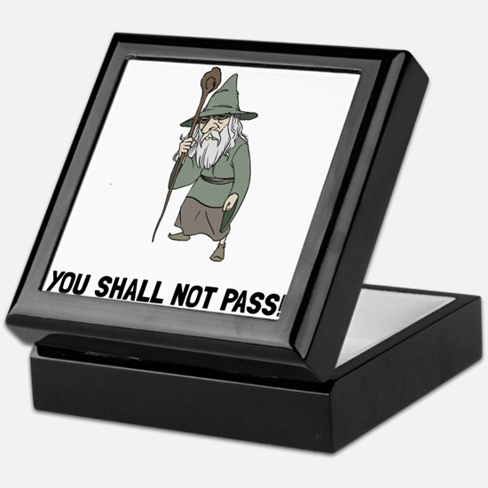 Wizard Shall Not Pass Keepsake Box