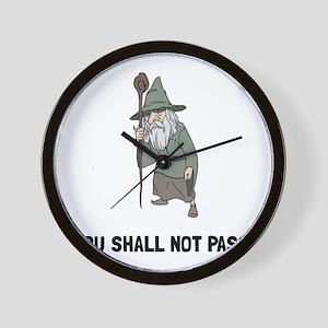 Wizard Shall Not Pass Wall Clock