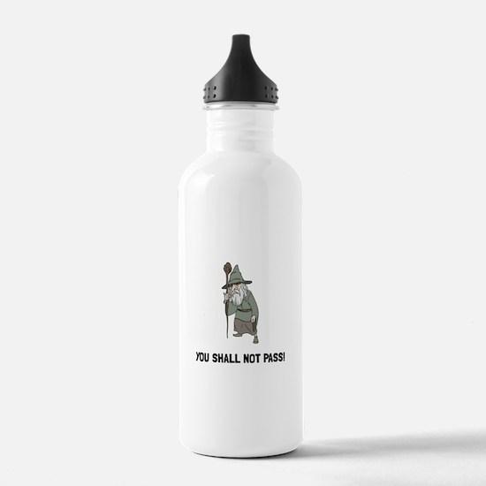 Wizard Shall Not Pass Water Bottle
