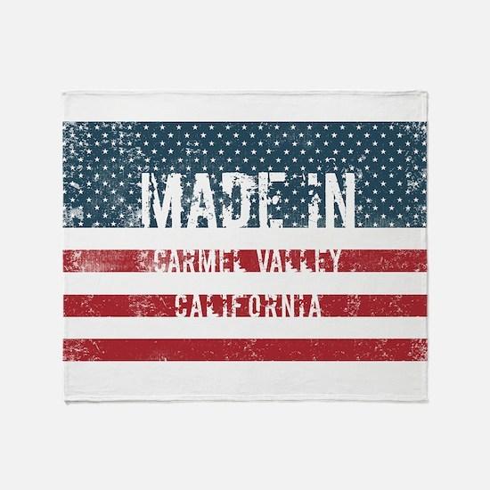 Made in Carmel Valley, California Throw Blanket