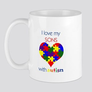 I love my Sons with Autism Mug