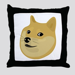 Wow Doge Throw Pillow