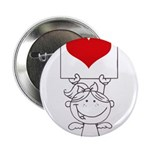Cartoon Stick Cupid Girl with Banner 2.25