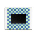 Blue Green Checks Picture Frame