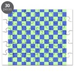 Blue Green Checks Puzzle