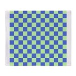 Blue Green Checks Throw Blanket