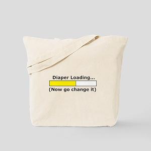 Diaper Loading... Tote Bag