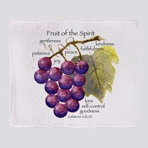 Fruit of the Spirit Design Throw Blanket