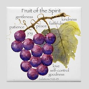 Fruit of the Spirit Design Tile Coaster