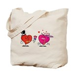 Romantic Heart Giving Flowers Tote Bag