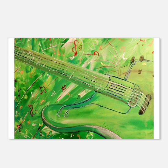 Modern Musical Abstract Postcards (Package of 8)