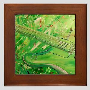 Modern Musical Abstract Framed Tile