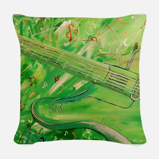 Modern Musical Abstract Woven Throw Pillow