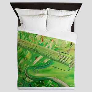 Modern Musical Abstract Queen Duvet