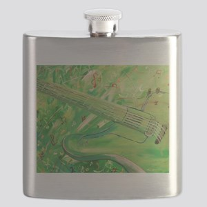 Modern Musical Abstract Flask