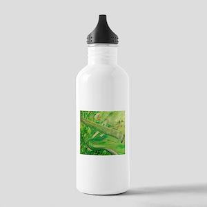 Modern Musical Abstract Water Bottle