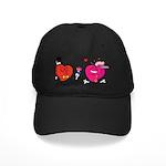 Romantic Heart Giving Flowers Baseball Hat