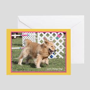 Golden Retriever Treats Birthday Greeting Card
