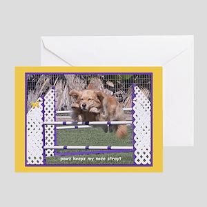 Golden Retriever Nose Birthday Greeting Card