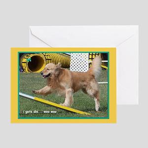 Golden Retriever Confidence Birthday Greeting Card