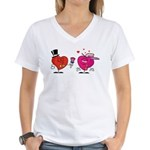 Romantic Heart Giving Flowers T-Shirt