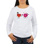 Romantic Heart Giving Flowers Long Sleeve T-Shirt
