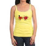 Romantic Heart Giving Flowers Tank Top