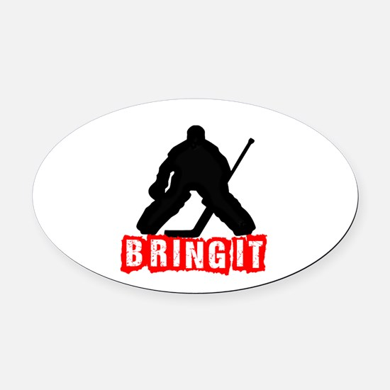 Bring It Oval Car Magnet