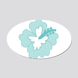 Blue Hibiscus Flower Wall Decal