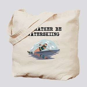 Id Rather Be Waterskiing Tote Bag