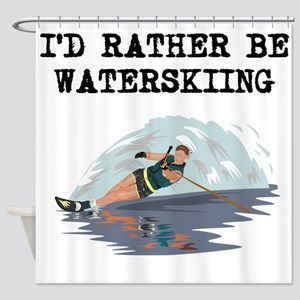 Id Rather Be Waterskiing Shower Curtain