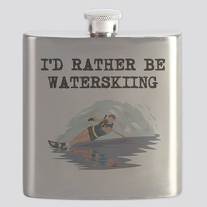 Id Rather Be Waterskiing Flask