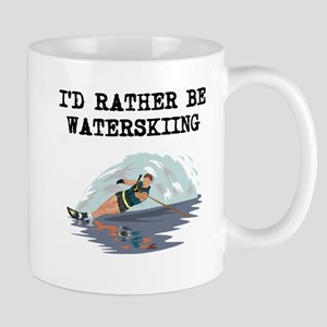 Id Rather Be Waterskiing Mugs