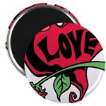 Love Heart with Rose Magnets