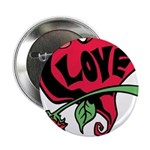 Love Heart with Rose 2.25