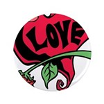 Love Heart with Rose 3.5