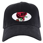 Love Heart with Rose Baseball Hat