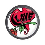 Love Heart with Rose Wall Clock