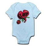 Love Heart with Rose Body Suit