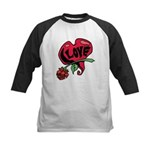 Love Heart with Rose Baseball Jersey