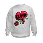 Love Heart with Rose Sweatshirt