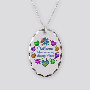 Ballroom My Happy Place Necklace Oval Charm