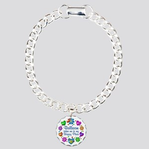 Ballroom My Happy Place Charm Bracelet, One Charm