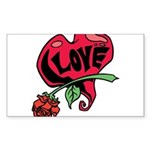 Love Heart with Rose Sticker