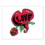 Love Heart with Rose Posters